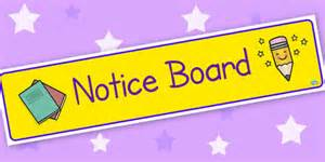 Classroom notice boards